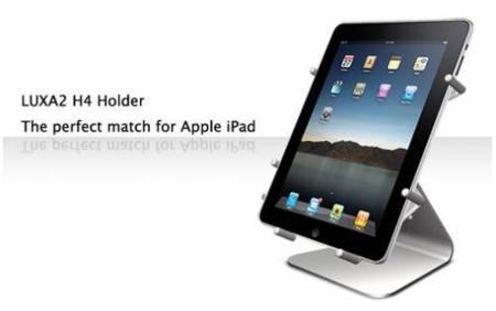 Soporte de aluminio a juego con el nuevo iPad y el iMac