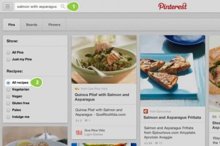 Pinterest lanza un buscador de recetas para satisfacer el hambre de los usuarios