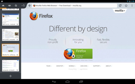 Firefox 22 para Android