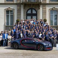 Este es el Bugatti Chiron número 100 y vale 66 millones de pesos