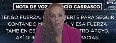 """La nota de audio con la que Rocío Carrasco ha abierto el segundo programa de la docuserie: """"Estoy un pelín desbordada, pero serena"""""""