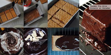 Tarta de galletas de chocolate