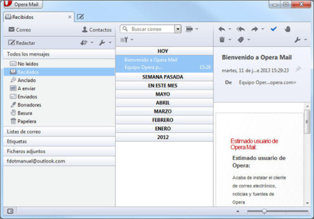 Debut oficial de Opera Mail para Windows