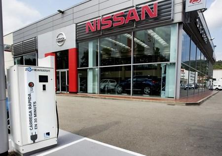 Puntos de recarga rápida en concesionarios Nissan