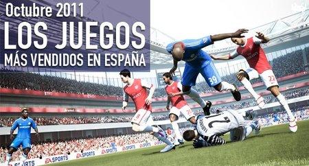 Los juegos más vendidos en España en Octubre 2011: el fútbol triunfa sobre todo lo demás