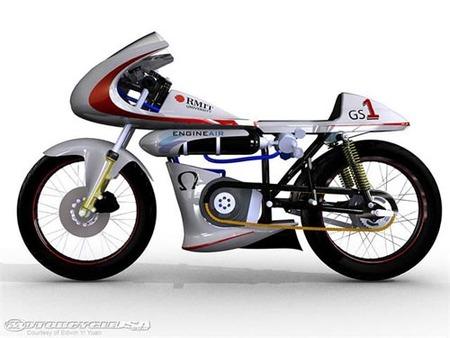 Moto propulsada por aire comprimido