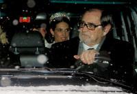 El look invernal de Tatiana SantoDomingo el día de su boda