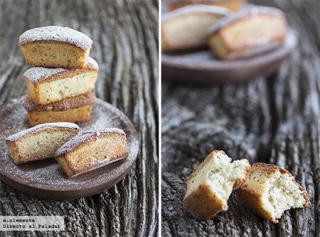 Financiers de mandarina y semillas de amapola: receta dulce de aprovechamiento