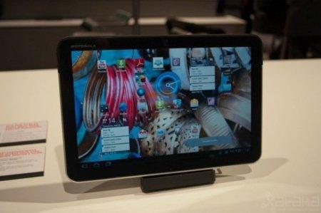 Imagen del Motorola Xoom en el MWC de Barcelona.
