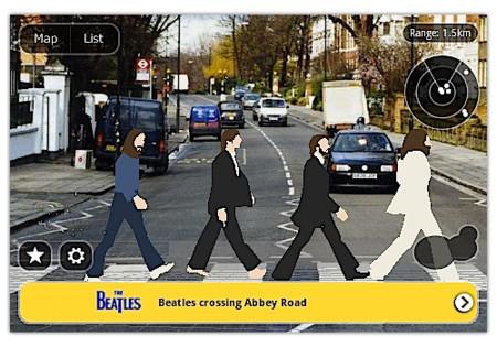 Layar 3.0 y su realidad aumentada nos muestran a los Beatles en 3D