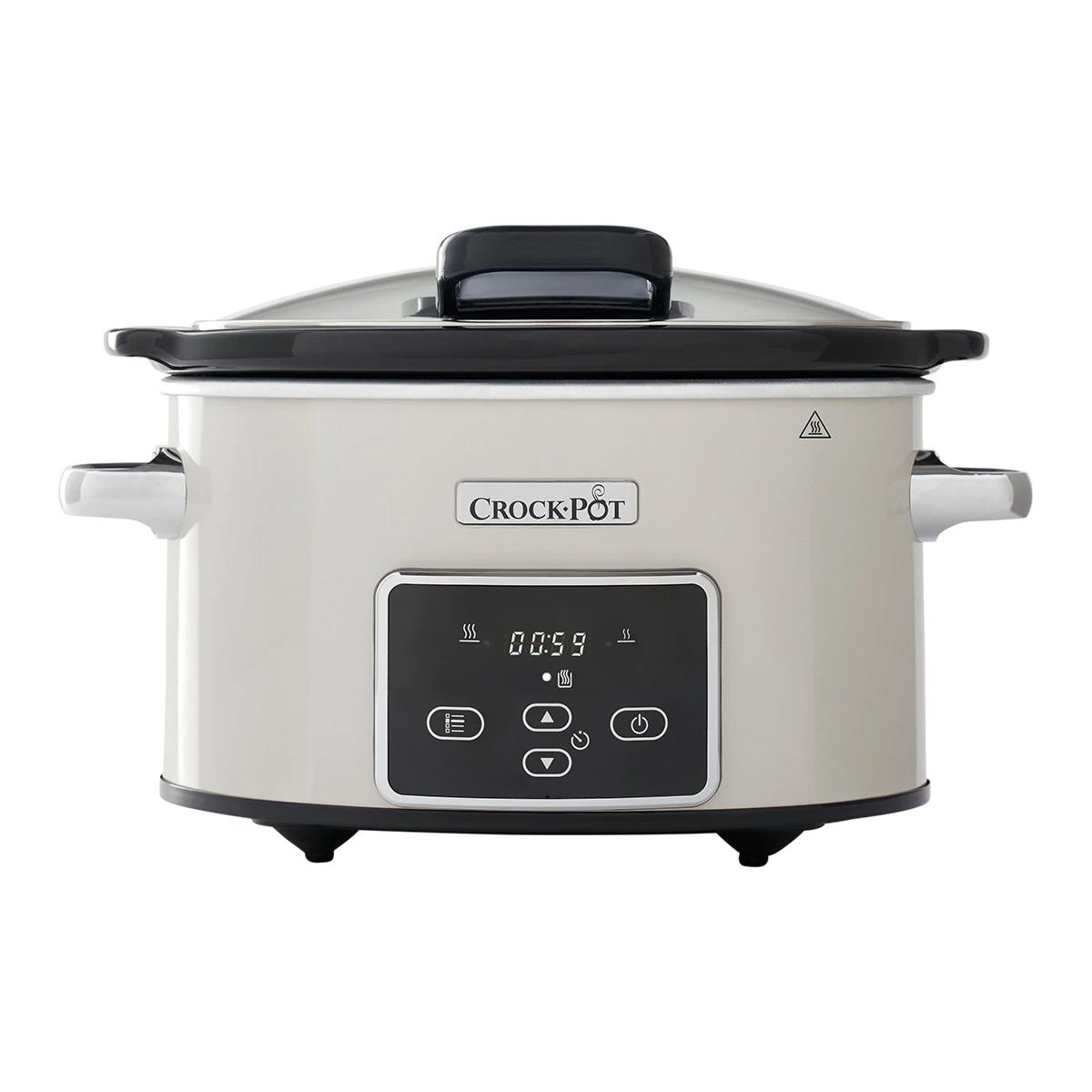 Olla eléctrica CrockPot CSC060X con dos niveles de potencia.