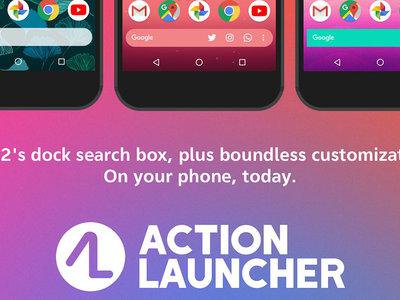 El dock con barra de búsqueda abajo llega a todos con Action Launcher 29