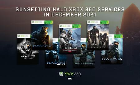 Todos los juegos de Halo en Xbox 360 perderán sus funciones online a finales de 2021