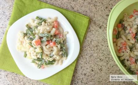 Ensalada de pasta y verduras. Receta