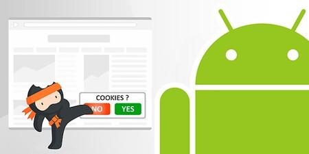 Cómo quitar el aviso de cookies en un navegador Android con la extensión Ninja Cookie