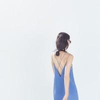Vestido azul de tirantes