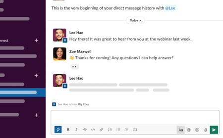 Slack evoluciona más allá de tu empresa: ahora podemos enviar mensajes a cualquier usuario de la plataforma