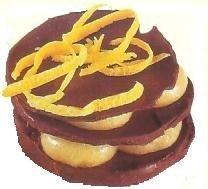 Milhojas de chocolate con crema de limón