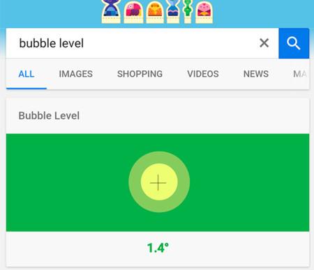 Esas pequeñas genialidades de Google: cómo usar un nivel de burbuja desde el navegador web