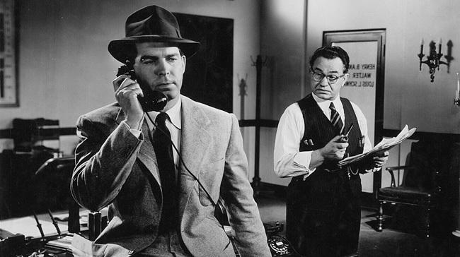 Fred MacMurray y Edward G. Robinson en 'Perdición'