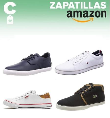 Chollos en tallas sueltas de zapatillas Lacoste, Tommy Hilfiger o Levi´s por menos de 40 euros en Amazon