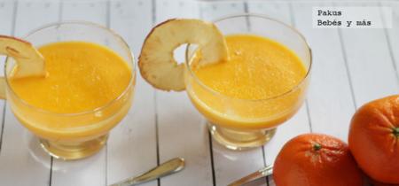 Crema de mandarinas. Receta fácil de postre para toda la familia