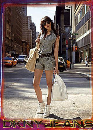 Daisy Lowe para DKNY Jeans Primavera-Verano 2009