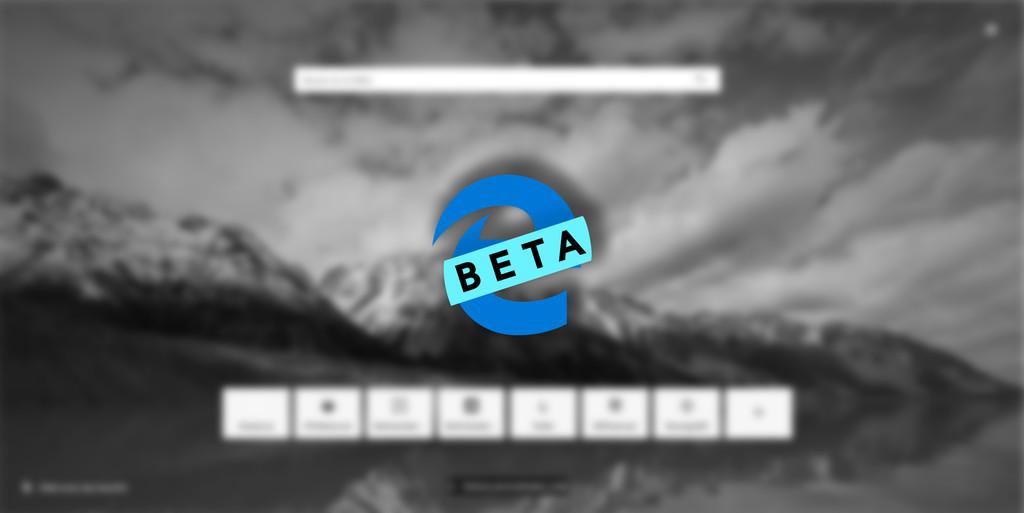 Ha tardado en llegar pero finalmente Microsoft℗ ha lanzado la 1.ª actualización de Edge℗ en el canal Beta