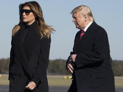 """Melania Trump vuelve a optar por el """"menos es más"""" con un total look de color negro que podría inspirar a más de una esta temporada"""