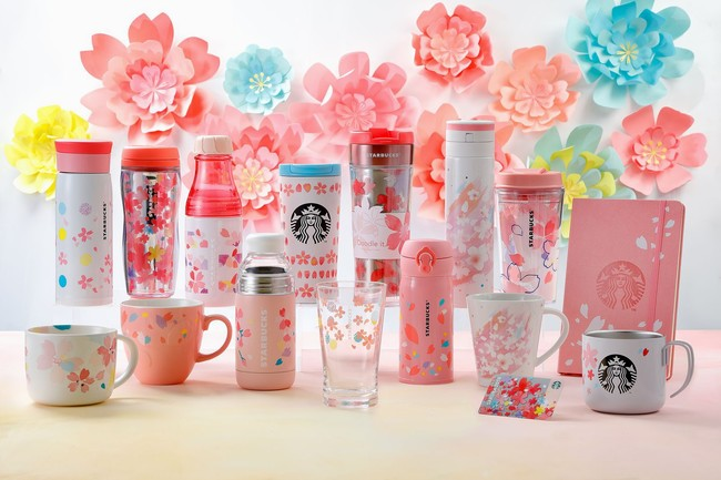 Starbucks Japan Sakura Strawberry Pink Milk Latte Tea Tumblers Mugs 3