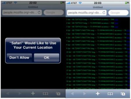 Safari para el iPhone incluirá geolocalización por GPS