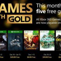 Estos son los juegos del Games with Gold de diciembre, y Santa nos deja uno extra por navidad