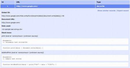 DOM Snitch, una extensión de seguridad para Chrome