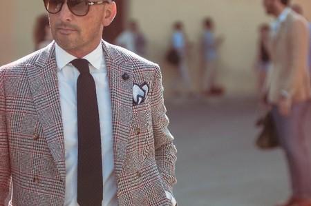 Americana principe de gales y corbata tricot