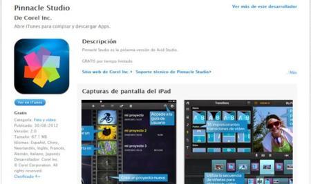Pinnacle Studio 2.0 llega al iPad gracias a Avid Studio