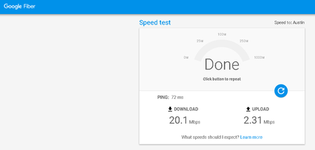 Google Speedtest Resultado Mexico