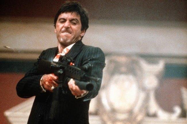 Al Pacino en El Precio del Poder (Scarface)