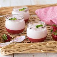 Crema ligera de fresas, mascarpone y yogur griego: receta sin horno
