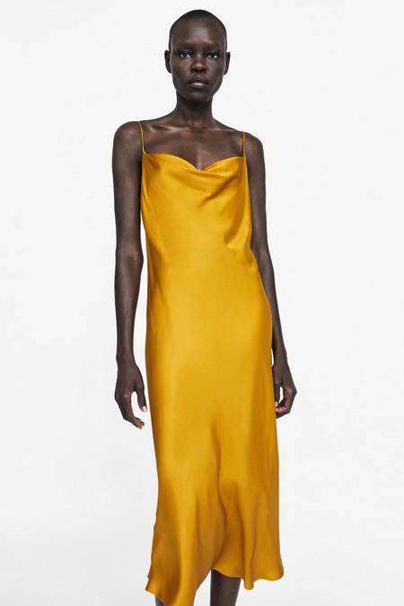 Vestido Amarillo Slip Dress