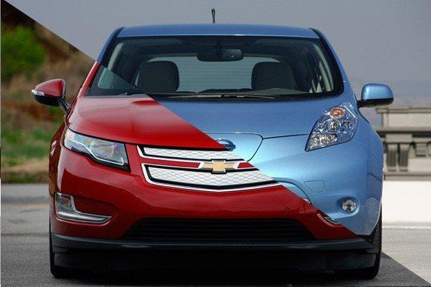 Chevrolet Volt contra Nissan Leaf