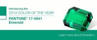 Trendencias noticias: El verde esmeralda, el color del año 2013
