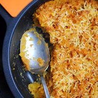 Dahl de lentejas rojas con cobertura de batata: receta de inspiración hindú