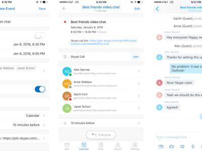 Outlook para iOS permite ahora mantener conferencias on-line mediante Skype