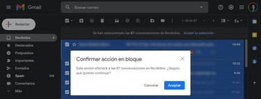Cómo marcar todos los coreos como leídos en Gmail