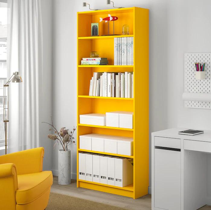 Librería Billy en amarillo
