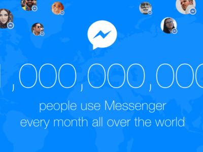 Facebook Messenger supera los mil millones de usuarios activos
