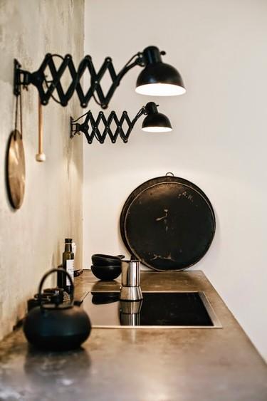 Ideas de iluminación: flexos sobre la encimera de la cocina