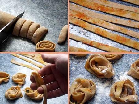 Receta de tallarines fritos al aroma de naranja. Elaboración 2