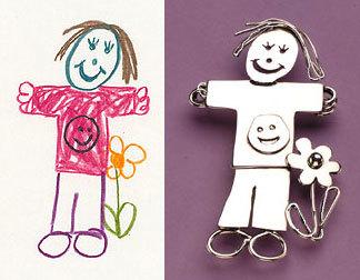 Joyería creada a partir de los dibujos infantiles