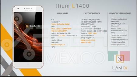 Lanix L1400 Especificaciones Xataka Mexico